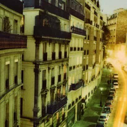 recorte da fotografia MontMartre #1, série Noturnos Paris