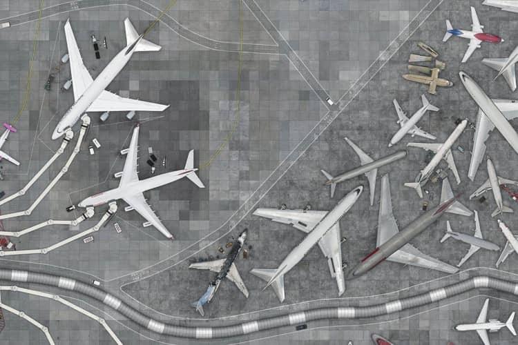 Aeroporto, detalhe
